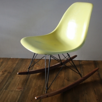 Eames herman miller dsw side chair rocker in translucent for Rocking chair dsw