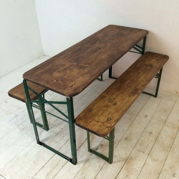 Strange Customised Length Vintage German Beer Table And Benches Lovely And Company Creativecarmelina Interior Chair Design Creativecarmelinacom
