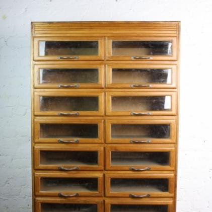 Vintage oak 16 drawer haberdashery cabinet - Lovely and Company