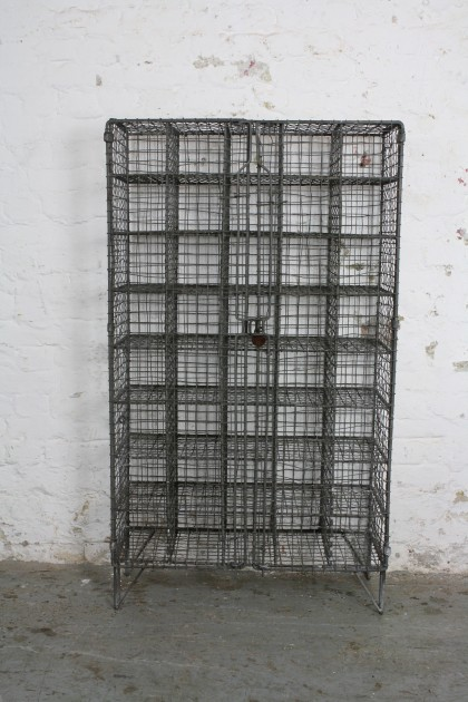 Vintage Wire Mesh Shoe Locker Pigeon Holes With 45