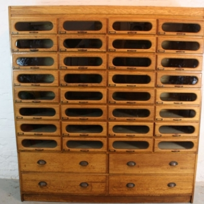 Vintage double width haberdashery cabinet - Lovely and Company