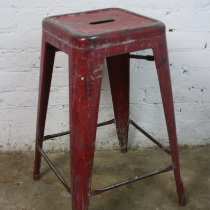 Vintage French steel Tolix Stool