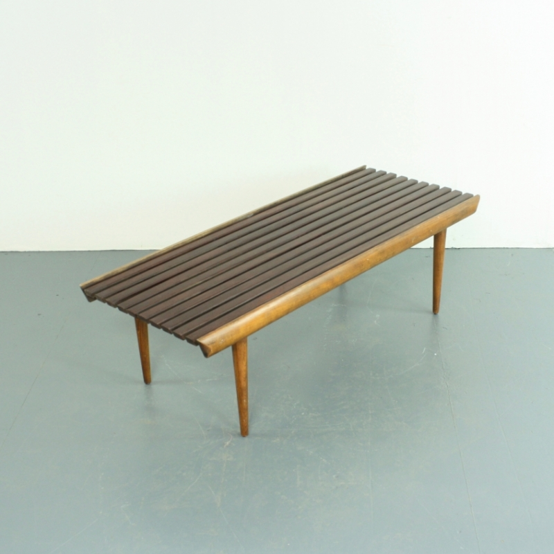 Awesome George Nelson Style Slatted Wooden Coffee Table Lovely And Company Andrewgaddart Wooden Chair Designs For Living Room Andrewgaddartcom