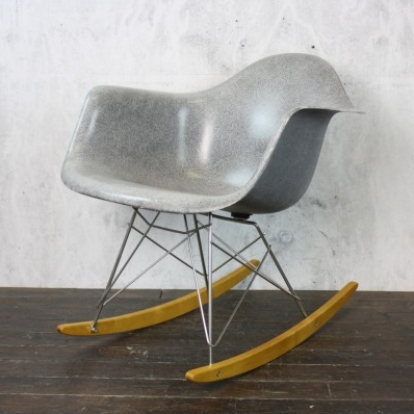 eames herman miller rar rocking chair in grey - lovely and company