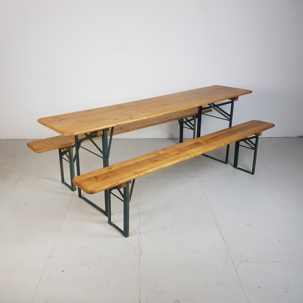 Astounding Vintage German Beer Table And Benches Sanded And Waxed Lovely And Company Evergreenethics Interior Chair Design Evergreenethicsorg