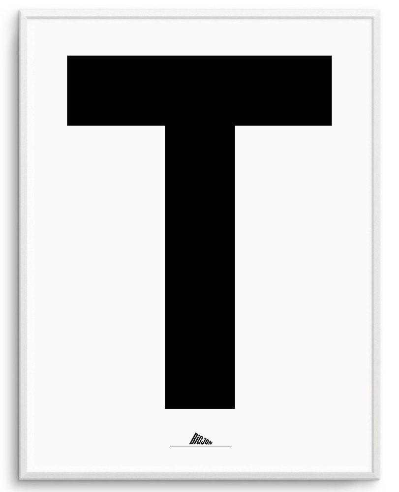 Letter  U0026quot T U0026quot  Print