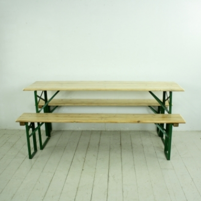 Superb Customised Length Vintage German Beer Table And Benches In Natural Pine Finish Lovely And Company Evergreenethics Interior Chair Design Evergreenethicsorg
