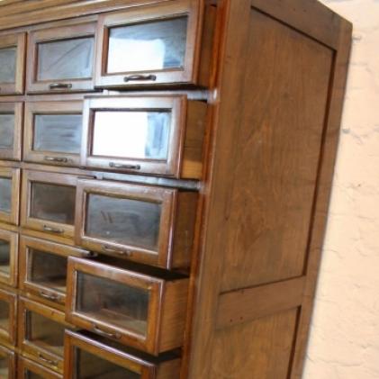 Zoom Vintage Oak 24 Drawer Haberdashery Cabinet