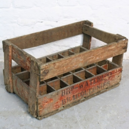 Vintage French wine crate