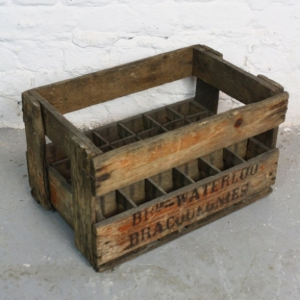 Vintage french wine crate lovely and company for Small wine crates