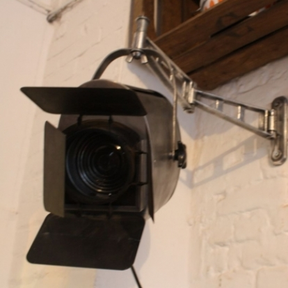 Vintage Furse theatre wall light with barn doors and ...
