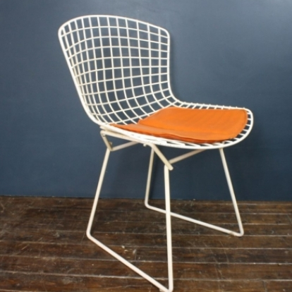 vintage white bertoia side chair lovely and company