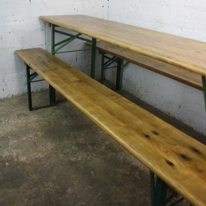 Vintage German beer table and benches sanded and waxed