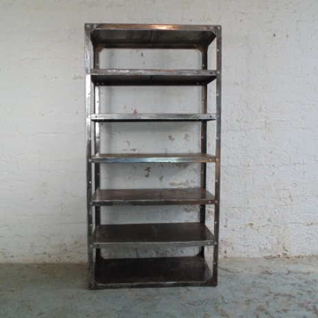 Vintage Industrial Metal Shelving Unit Lovely And Company