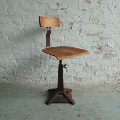 Vintage industrial Singer sewing chair - Lovely and Company