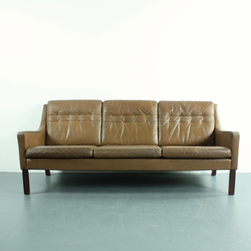 Vintage thams 3 seater brown leather sofa lovely and company Vintage tan leather sofa