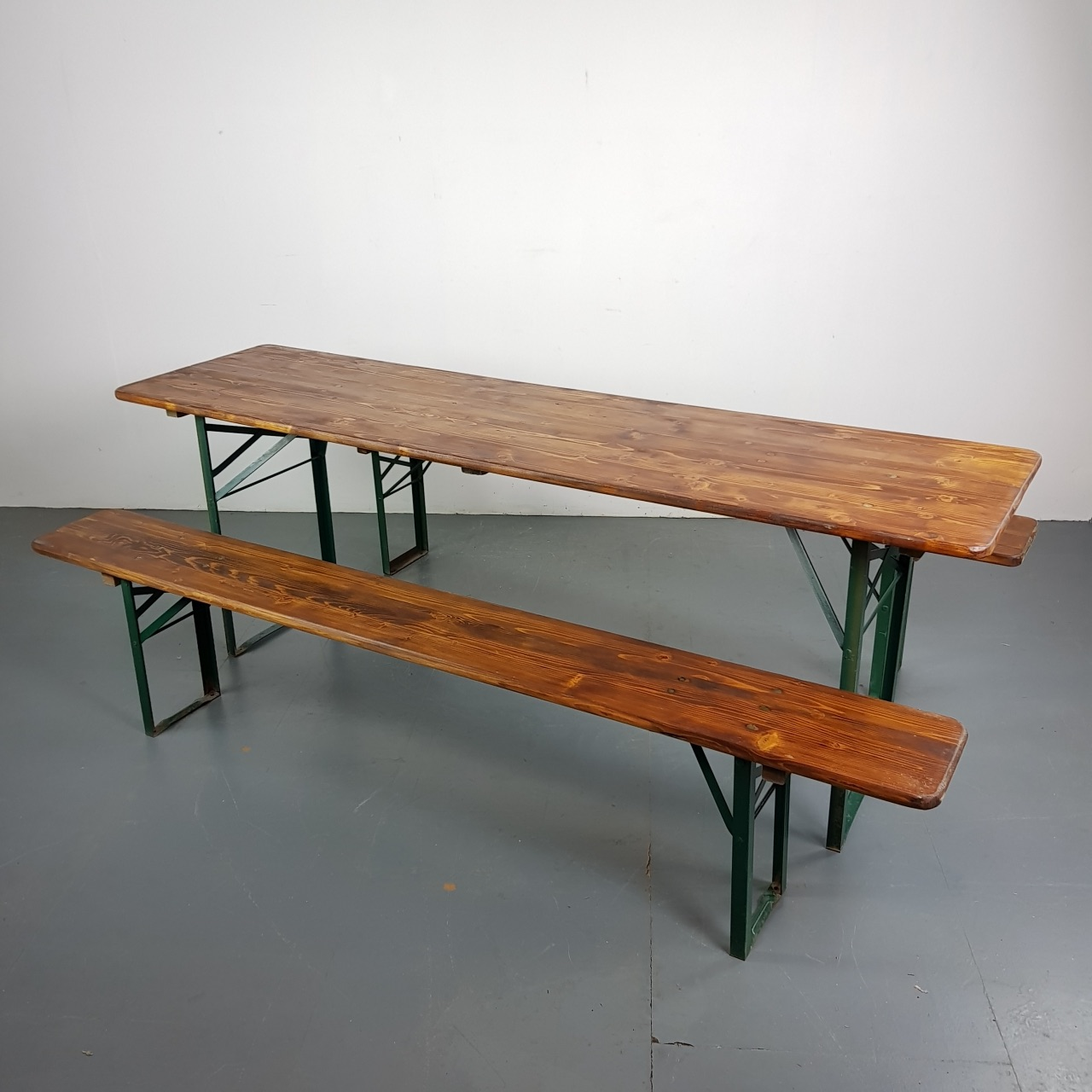 Cool Customised Extra Width Vintage German Beer Table And Benches Lovely And Company Evergreenethics Interior Chair Design Evergreenethicsorg