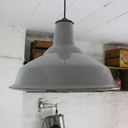vintage grey enamel industrial pendant light lovely and company