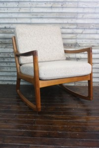 Ole Wanscher 1960s teak rocking chair made by Cado (France & Son) Denmark