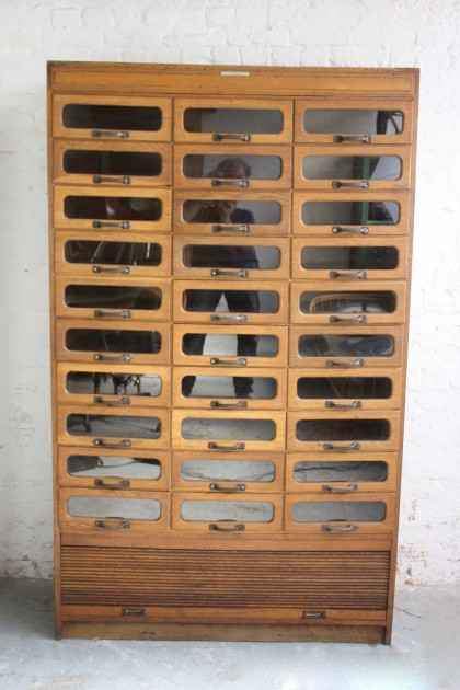 Vintage Double Width Haberdashery Cabinet Lovely And Company