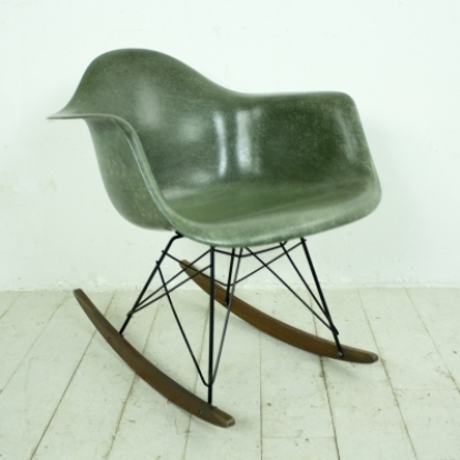 eames herman miller rar rocking chair in dark olive lovely and