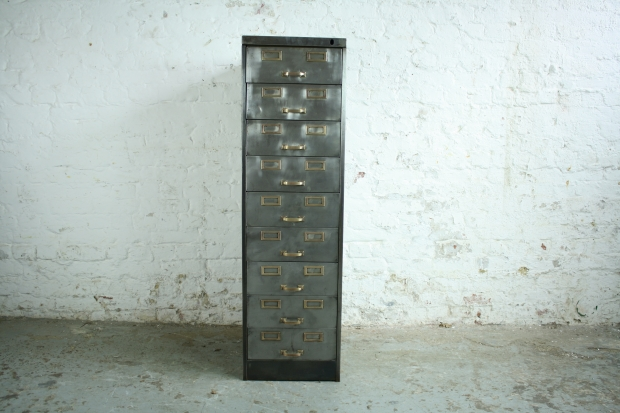 Vintage metal file cabinet veterinariancolleges 9 drawer metal filing cabinet with brass detailing lovely and company malvernweather Choice Image