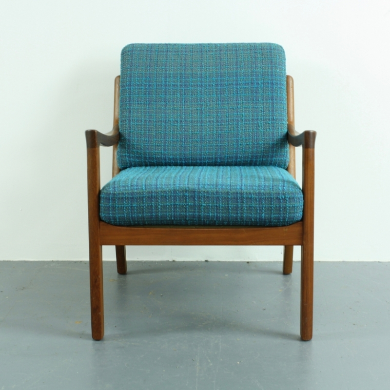 Ole Wanscher 1960s teak lounge chair made by France & Son Denmark with or