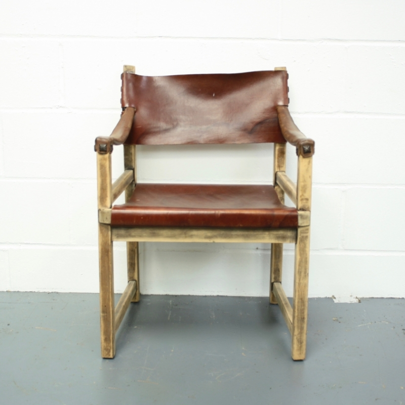 Vintage Leather Safari Chair Dining Chair Lovely And Company