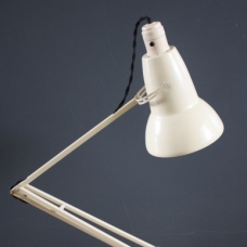 Herbert Terry anglepoise lamp in cream with bakelite switch