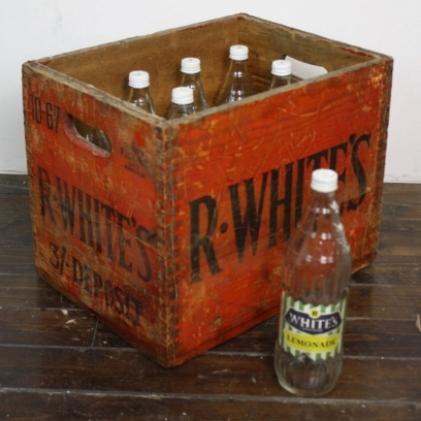 Vintage R Whites bottle