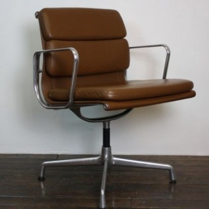 eames vitra for herman miller light brown leather soft pad. Black Bedroom Furniture Sets. Home Design Ideas
