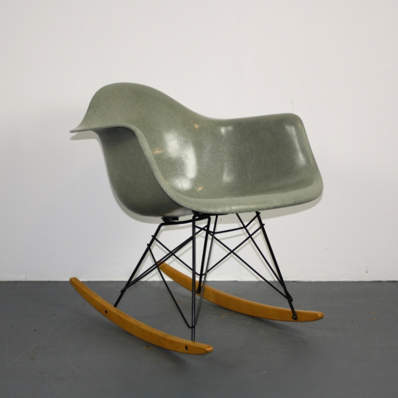 Eames Herman Miller RAR Rocking Chair In Seafoam Green