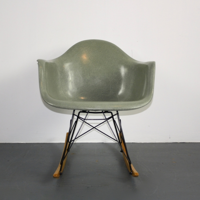 eames herman miller rar rocking chair in seafoam green lovely and