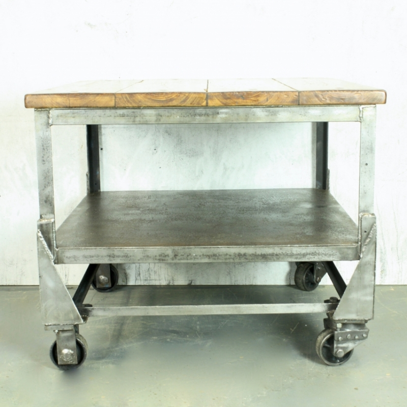 Large Vintage Industrial Trolley Coffee Table Lovely And Company
