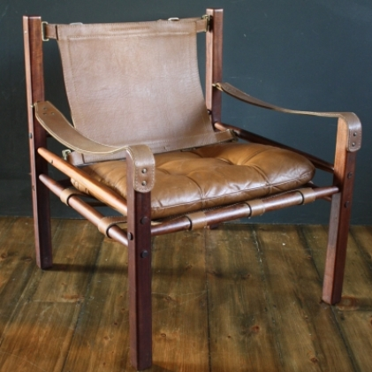 Arne Norell Sirocco Leather Safari Chair Rare Version