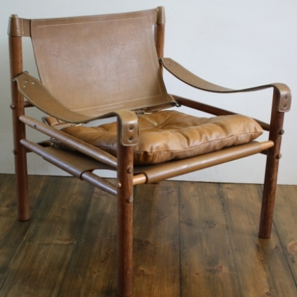 Zoom Arne Norell Sirocco Leather Safari Chair   1 Of 2