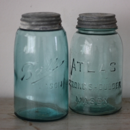 Junk Canning Jars one dollar cottage