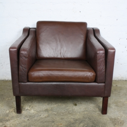 vintage danish leather armchair lovely and company