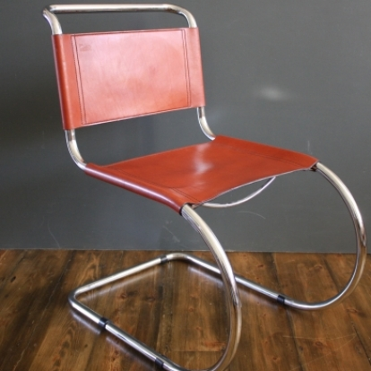 Zoom Mart Stam Style Chrome And Leather Cantilever Chair