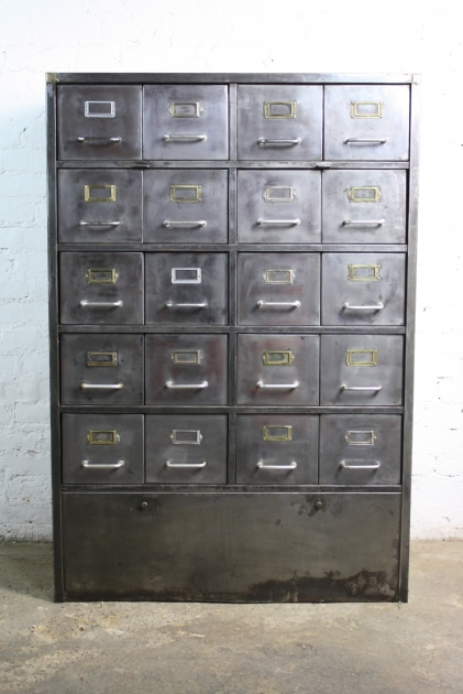 Vintage Art Metal 20 Drawer Filing Cabinet Lovely And