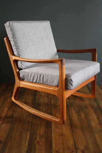 Ole Wanscher 1960s Teak Rocking Chair Made By France And Son Denmark Lovely And Company