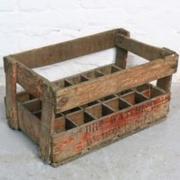 Vintage French wine crate  thumbnail